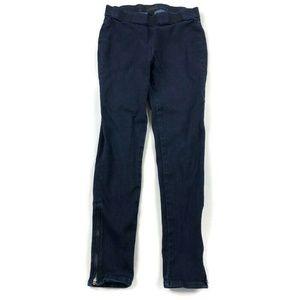 Hudson Skinny Jeans Ankle Zipper Dark Wash